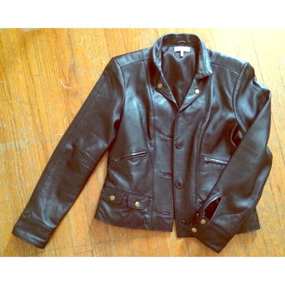 83da364f2808 Metro 7 Jackets & Coats | Womens Black Leather Jacket Size 10 | Poshmark